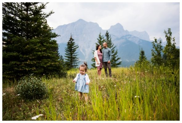 Quarry lake Family Maternity Session | Pat + Kaitlin | Canmore Maternity Photographer
