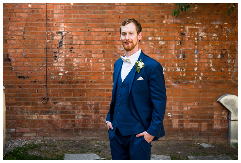 Groom Portrait - Calgary Wedding Photographer