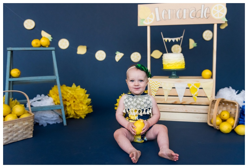 Lemonade Stand First Birthday Cake Smash