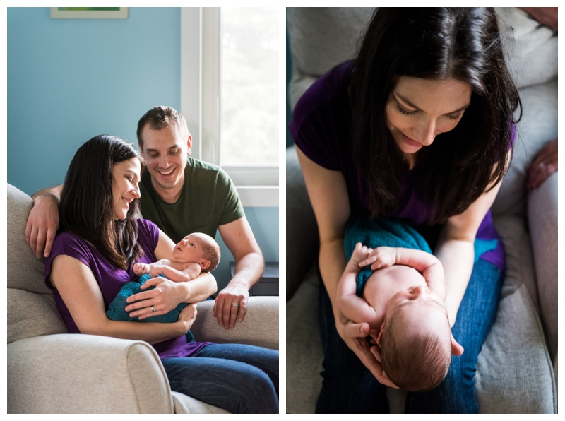 Lifestyle at Home Newborn Photos Calgary