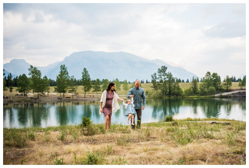Quarry lake Maternity Photos Canmore
