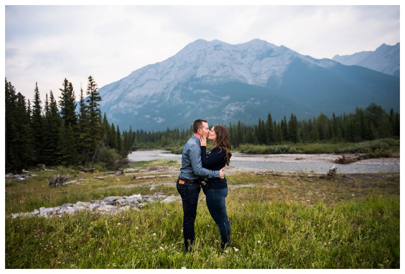 Rocky Mountain Engagement Photos - Canmore