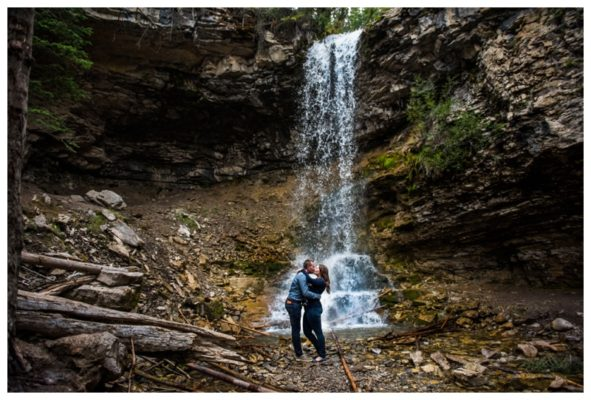 Kananaskis Waterfall Engagement Session | Jordan & Elise | Calgary Engagement Photographer
