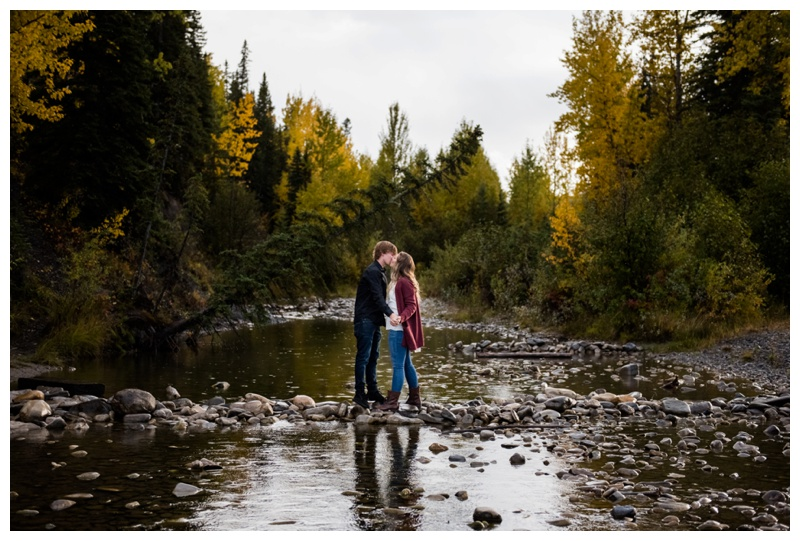 Autumn Engagement Photos Bragg Creek