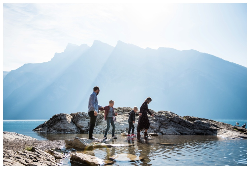 Banff Rocky Mountain Lake Family Session