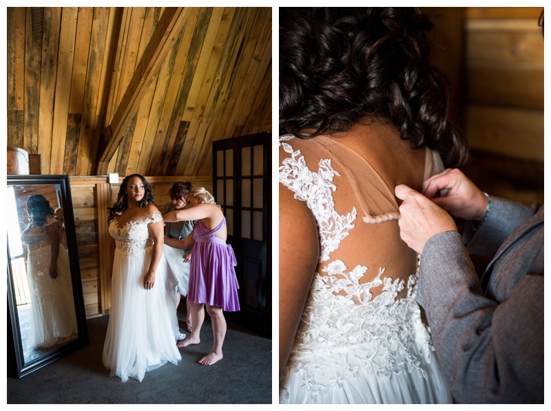 Bridal Prep Wedding Photography - Willow Lane Barn Olds