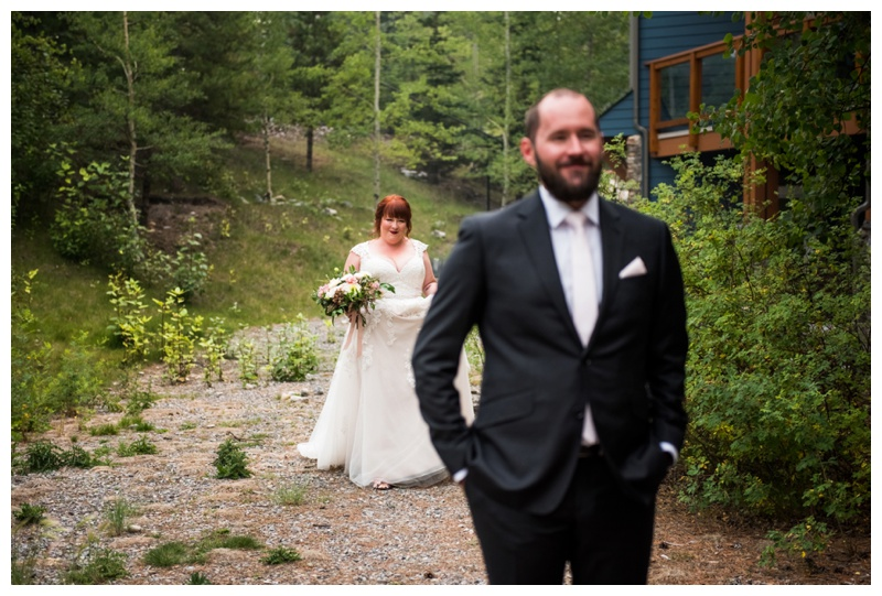 Canmore First Look Wedding Photos