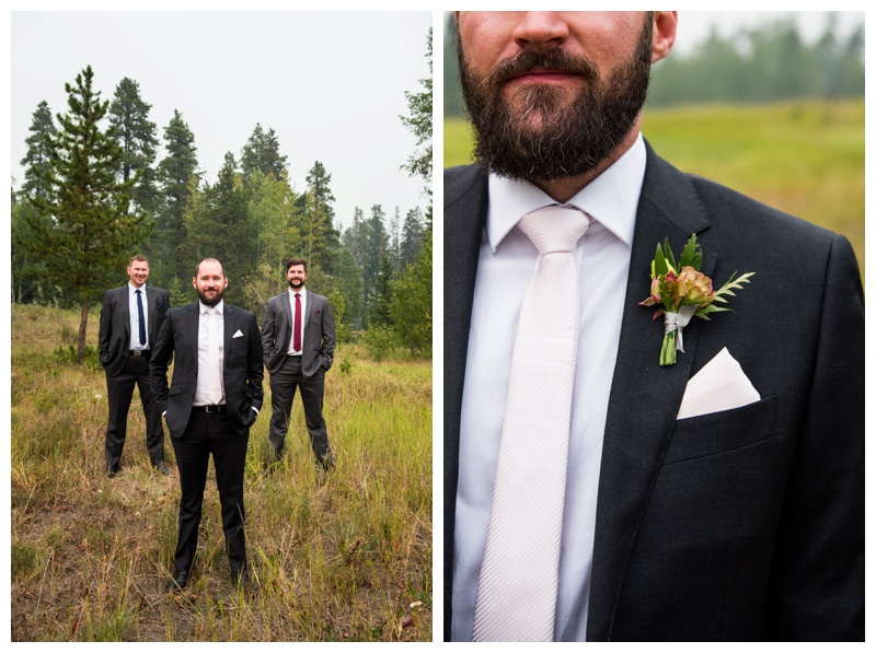 Canmore Wedding - Groomsmen Photos