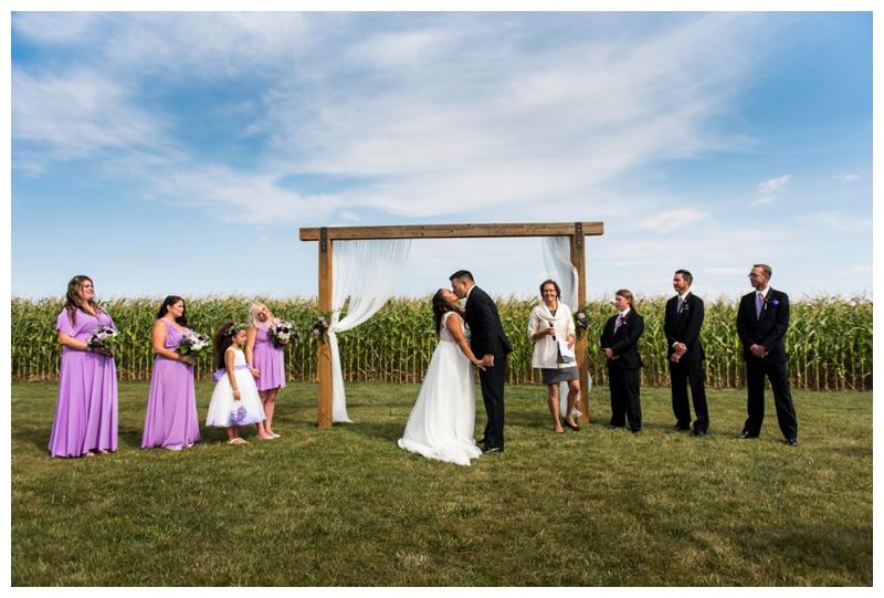 Farm Wedding Ceremony Photography - Willow Lane Barn