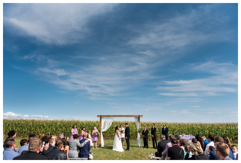 Farm Wedding Ceremony - Willow Lane Barn Wedding