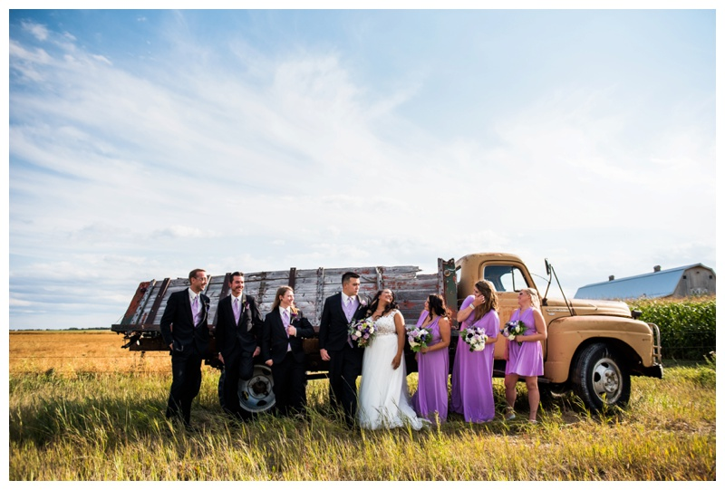 Farm Wedding Party Photography - Willow Lane Barn