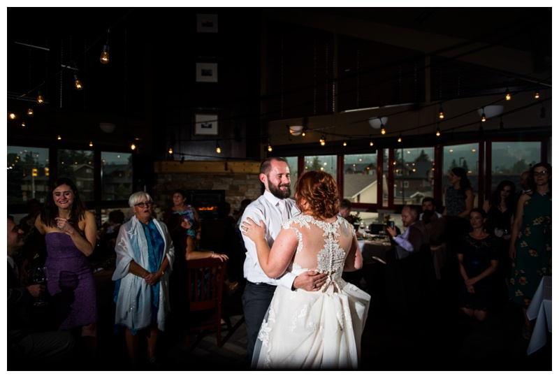 First Dance Wedding Photos - Canmore Wedding Photographer