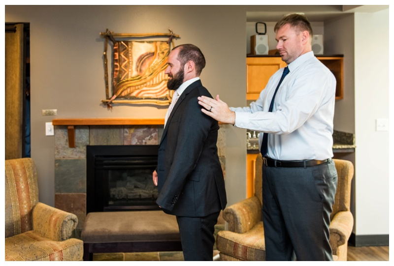 Groom Prep Photos - Canmore Alberta