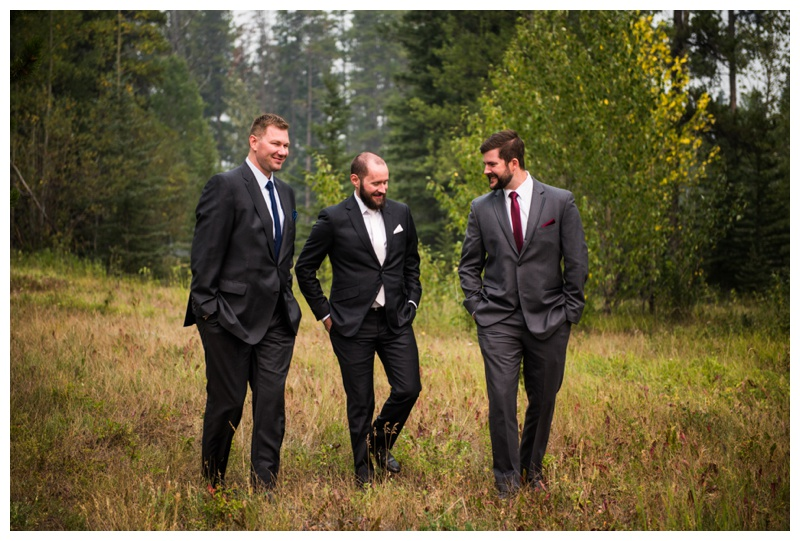 Groomsmen Wedding Photos - Canmore Wedding