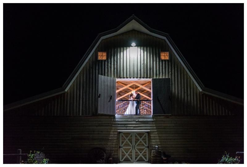 Night Wedding Photography - Willow Lane Barn