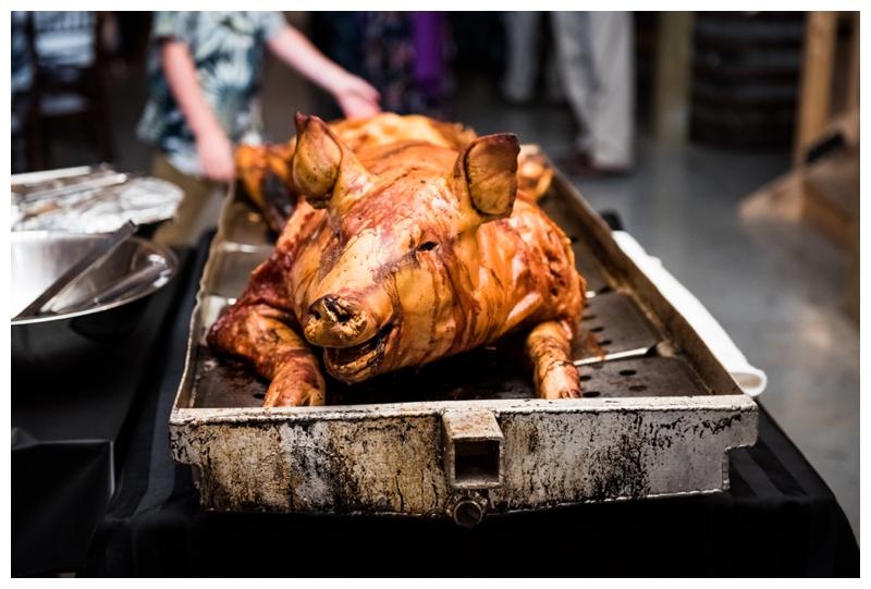 Pig Roast Wedding Meal - Willow Lane Barn