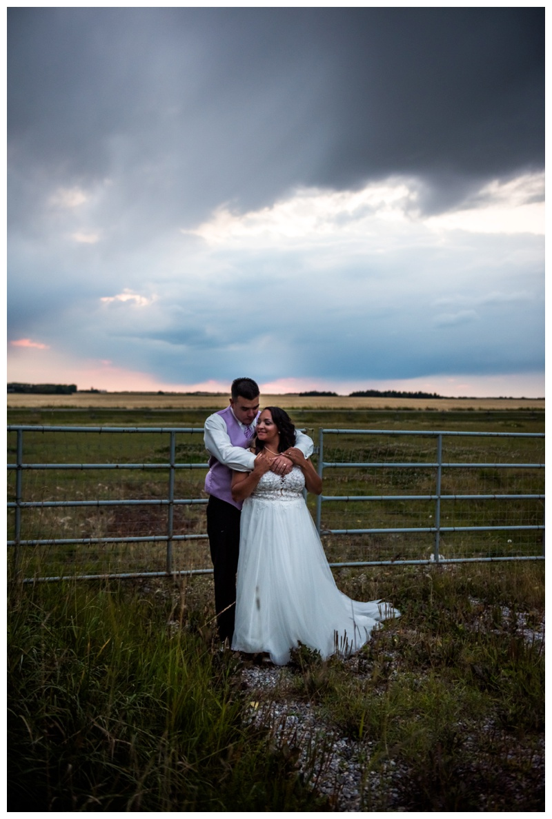 Sunset Wedding Photography - Willow Lane Barn