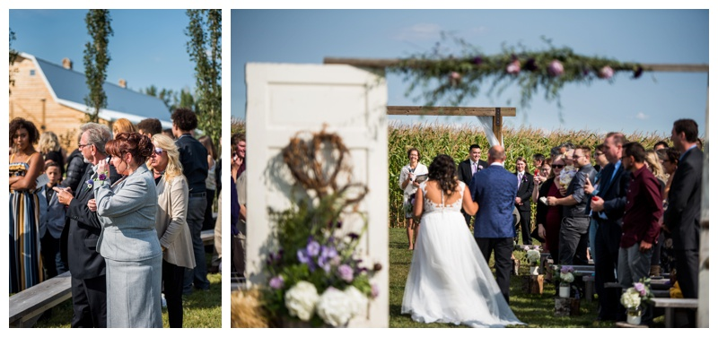 Wedding Ceremony Photography - Willow Lane Barn