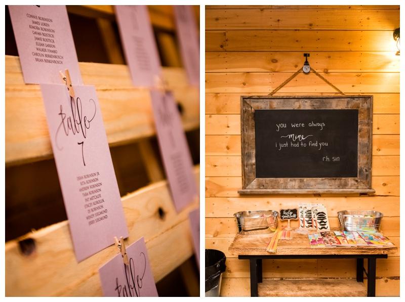 Wedding Reception Details - Willow Lane Barn
