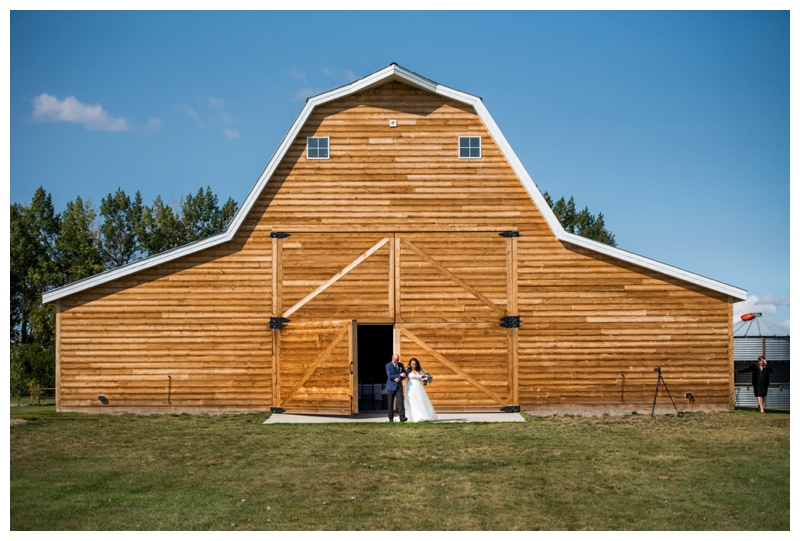 Willow Lane Barn Wedding Ceremony - Olds Alberta