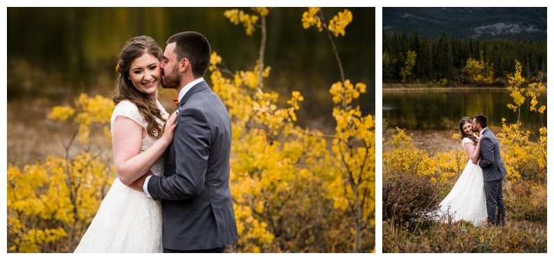 Autumn Wedding Photography Canmore - Bride & Groom Portraits