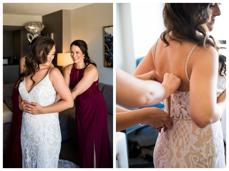 Bridal Prep Wedding Photography - Marriott Downtown Calgary