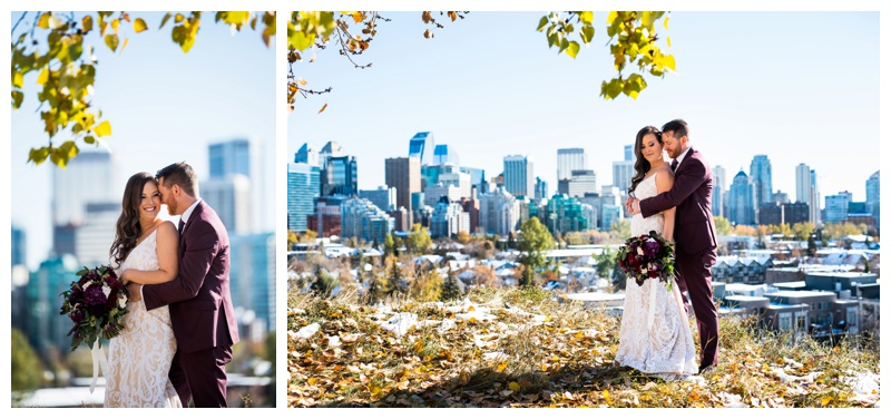 Calgary Skyline Wedding Photography