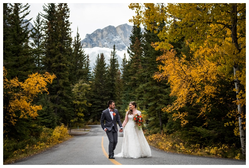 Campground Wedding Ceremony Canmore Alberta