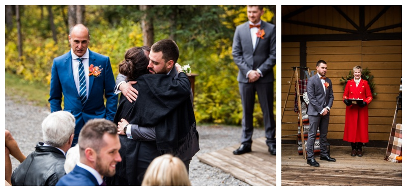 Canmore Fall Wedding Ceremony