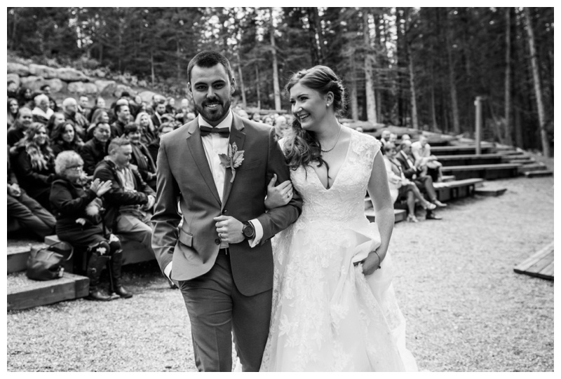 Fall Outdoor Wedding Ceremony Canmore Alberta
