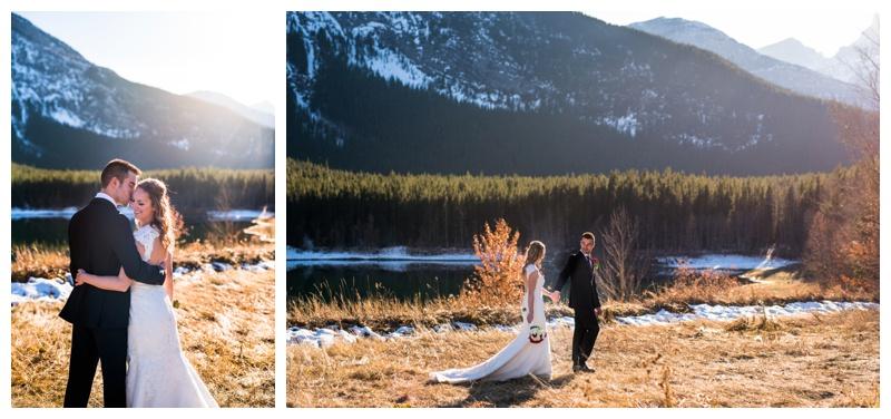 Fall Rocky Mountain Wedding - Canmore Wedding Photographer