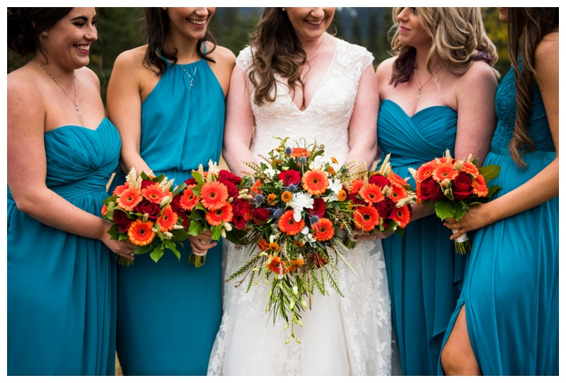 Fall Wedding - Bridesmaid Photography Canmore