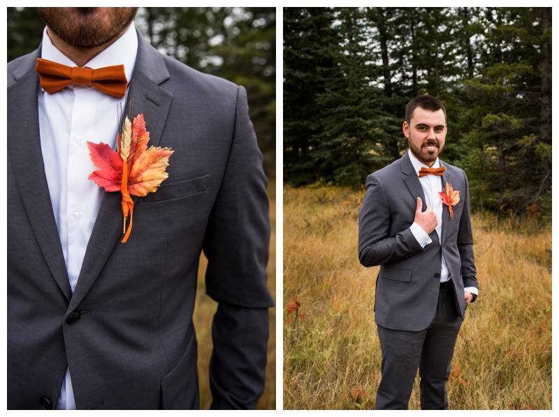 Groom Portrait - Fall Mountain Wedding Canmore