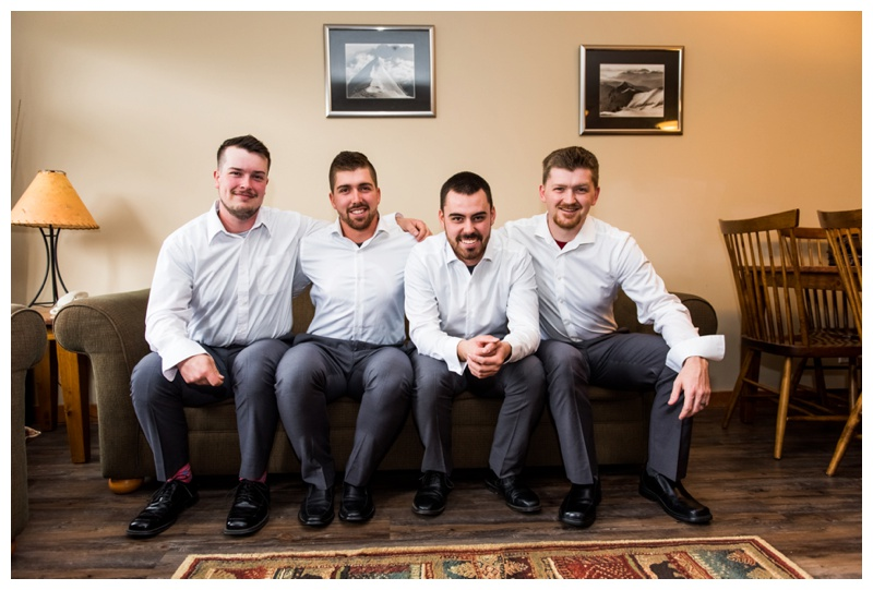 Groomsmen Wedding Photography - Canmore Alberta