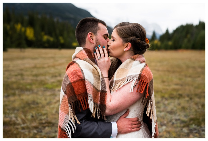 Kananaskis Mounatin Wedding - Middle Lake Alberta