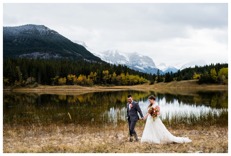 Middle Lake Canmore Alberta Wedding