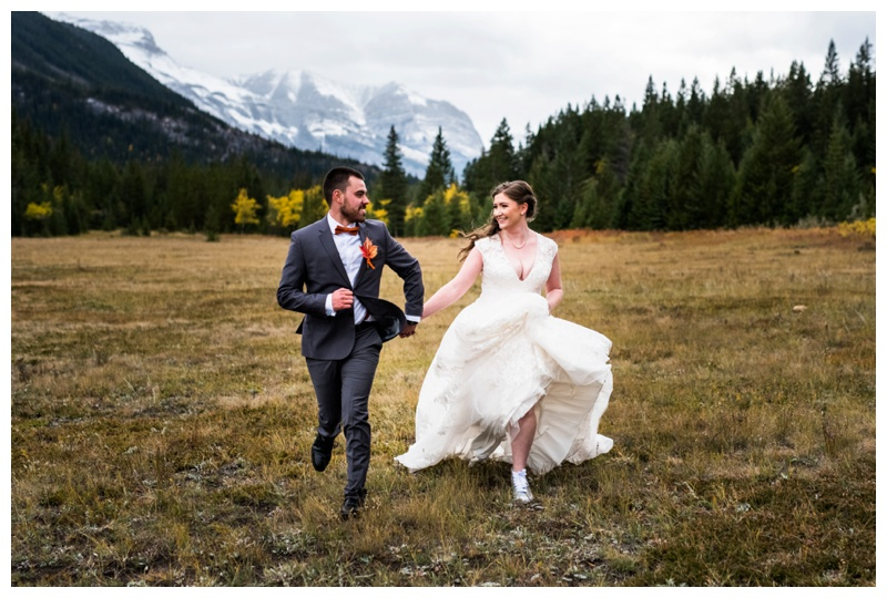 Mountain Fall Wedding Photography - Canmore Wedding Photographer