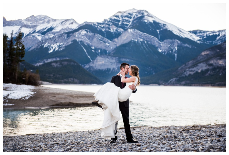 Mountain Lake Wedding Photography Canmore