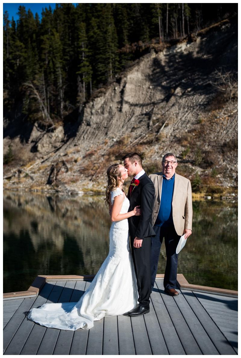 Outdoor Mountain Wedding Ceremony Mount Loretta Ponds