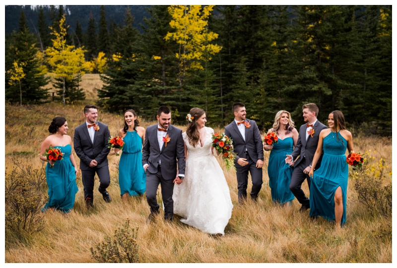 Wedding Party Photography Canmore Alberta