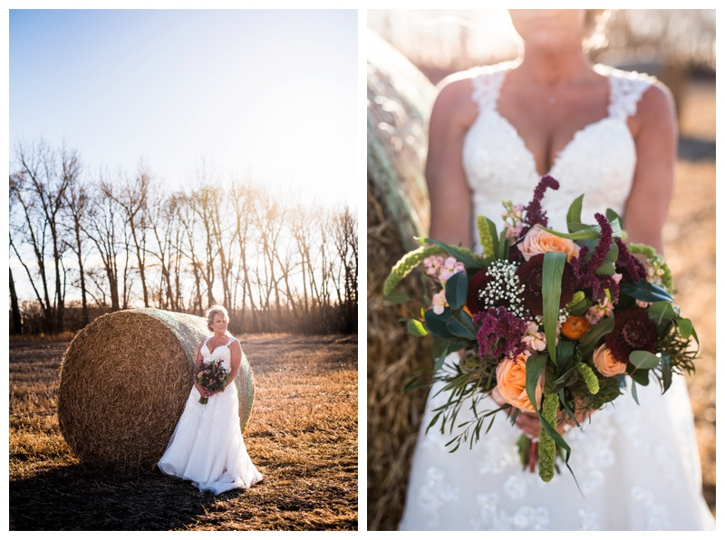 Bridal Portraits - Willow Lane Barn Olds Alberta
