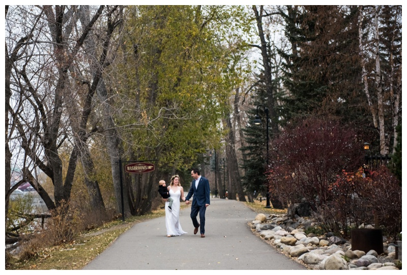 Calgary Princes Island Park Wedding