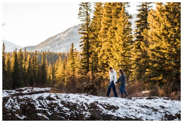 Kananaskis Winter Engagement Session | Charles & Christine | Canmore Wedding Photographer