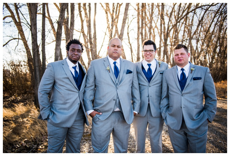 Groomsmen Wedding Photography - Willow Lane Barn