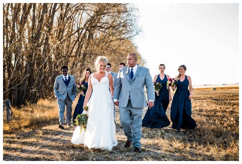 Olds Wedding Photographer - Willow Lane Barn Wedding Party Photography