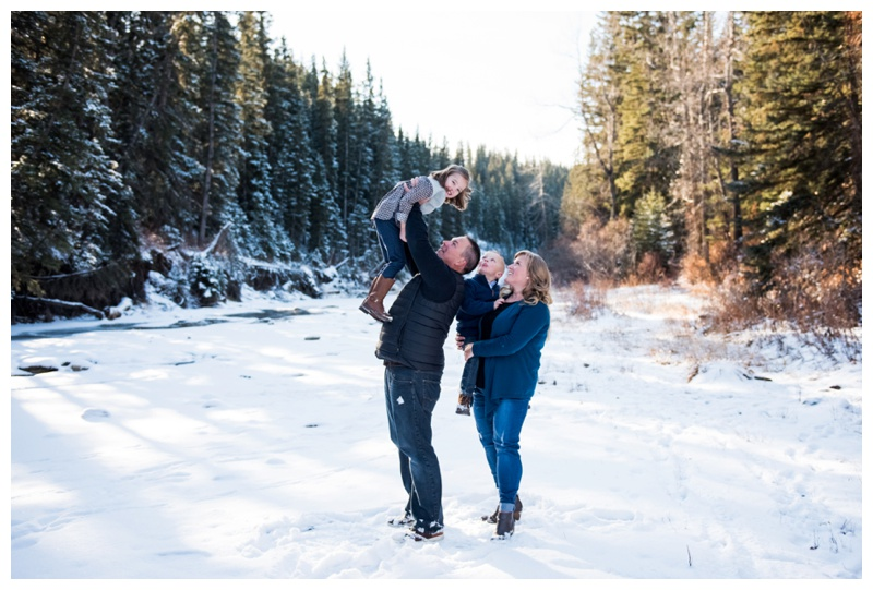 Snowy Family Photos Calgary
