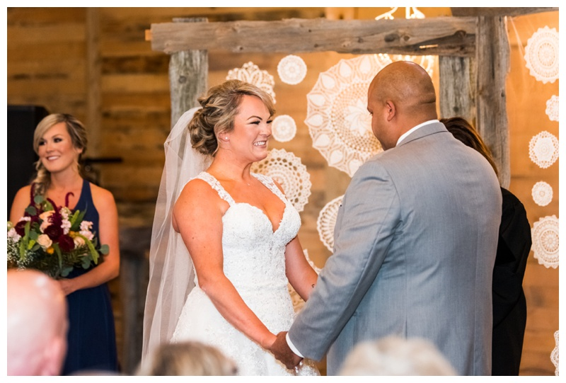 Wedding Ceremony Photography - Olds Willow Lane Barn