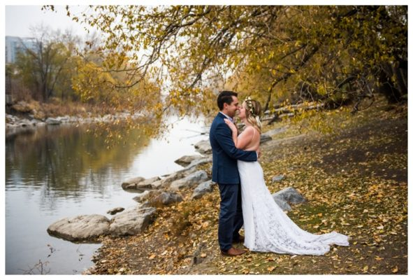 River Cafe Intimate Elopement | Dan & Sara | Calgary Wedding Photographer