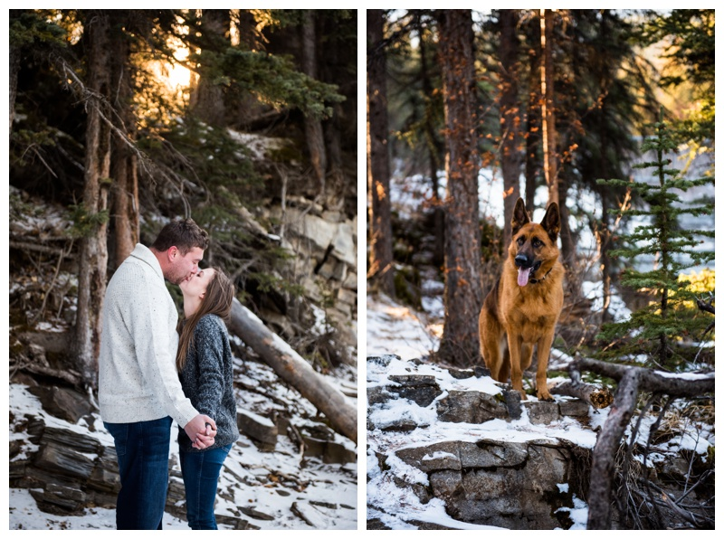 Winter Engagement Photos Calgary