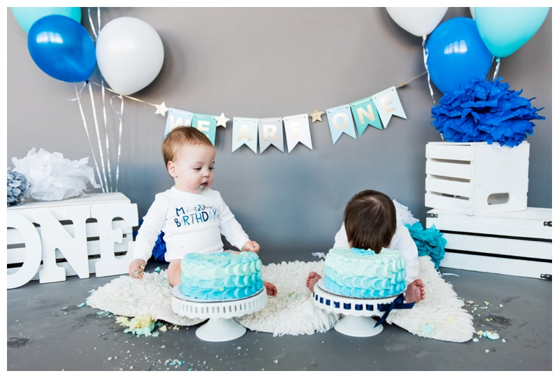 Calgary First Birthday Cake Smash Photographer